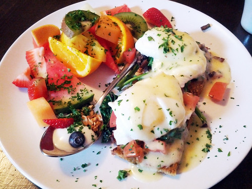Vegetarian Eggs Benedict @ Wildernest Dream Café