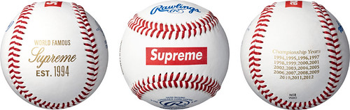Supreme / Rawlings Baseball