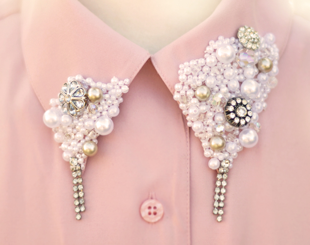 embellished collar diy