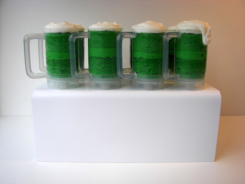 Green Beer Mug Cupcake Push Pops by death by cupcake