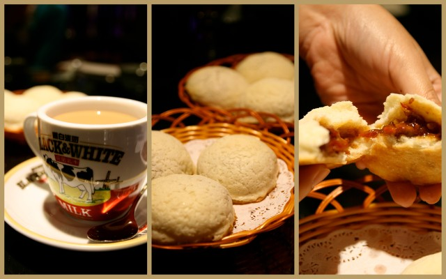 Canton Paradise ginger tea and BBQ Honey Pork Buns