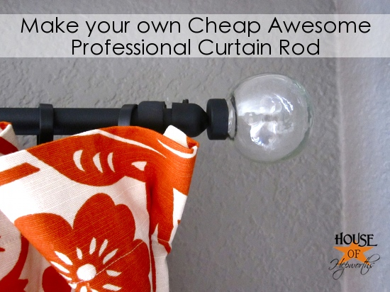 Curtain Rods cheapest place to buy curtain rods : How to make a cheap, awesome, professional Curtain Rod
