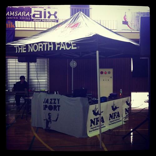 THE NORTH FACE + JAZZYSPORT + NFA(長崎フリークライミング協会)  ブース完成!