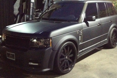 Scott Disick RANGE ROVER On 24 Forgiato RIMS (2)