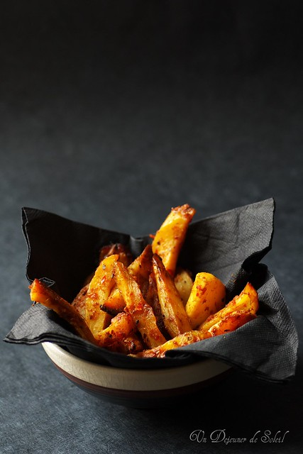Fausses frites au curry rouge