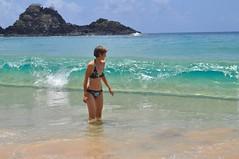 L'Anna lluitant contra les onades