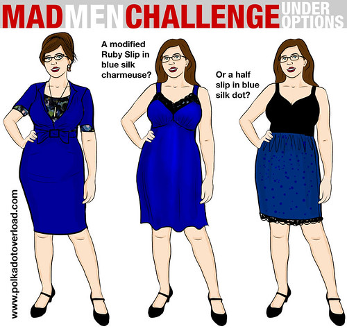 Mad Men Sewing Challenge Sketch 2: Under Options