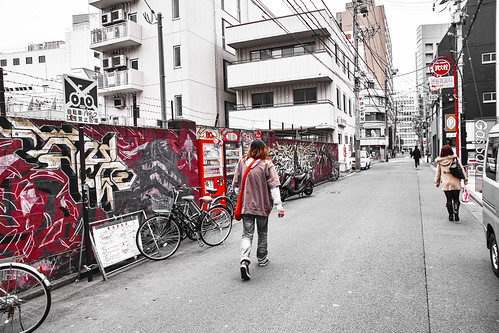 Street snap in Sendai red-4 by Stroll diary