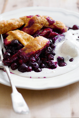 blueberry pie flaky butter crust