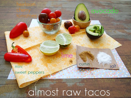 almost raw lime cumin avocado tacos