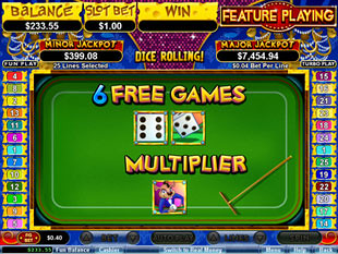 Mice Dice Slots Bonus Feature - Dice Roll