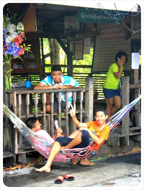 bang namphueng kids in hammock