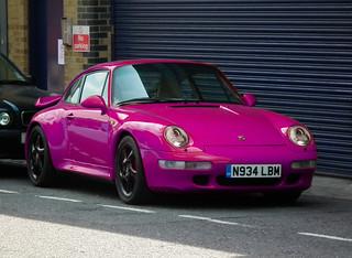 Pink Porsche Parked