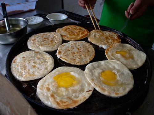 Comida china - pan con huevo