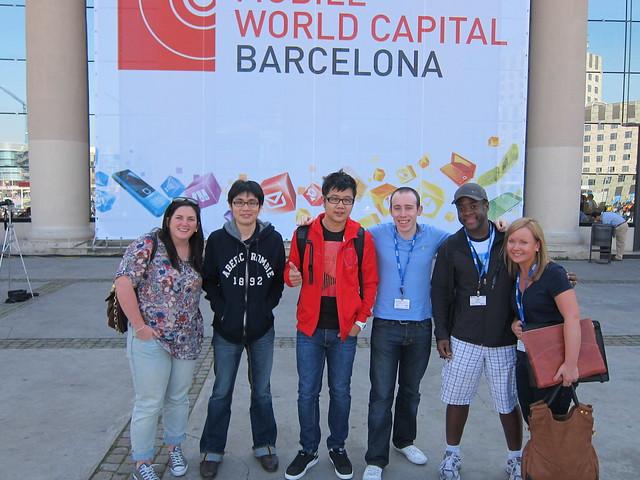 Meg (1000 Heads), Me, Jason (Smashpop), Tom (Nokia), Trent (Blogger), Elina (Nokia)