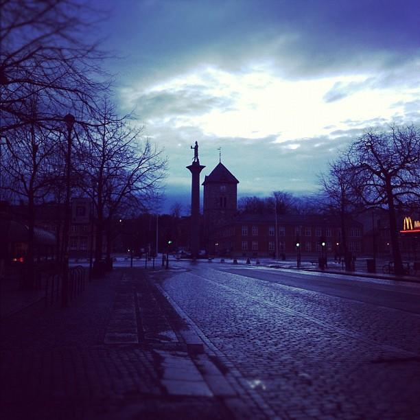 Trondheim Torg en tidlig morgen