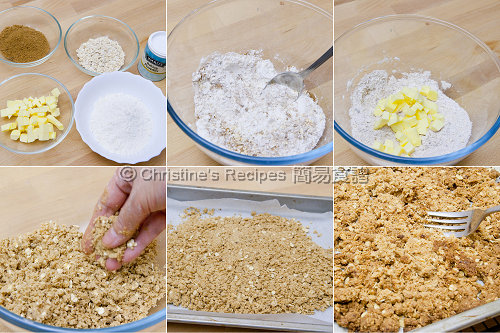 木槺製作圖 How To Make Crumble
