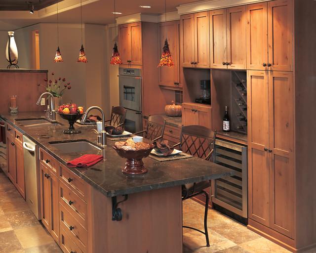 galley kitchen open to