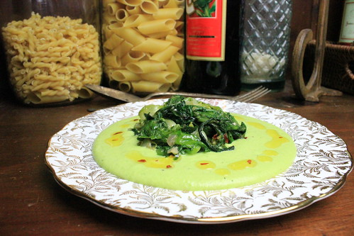 Fresh Fava Puree with Sauteed Garlicky Chicory