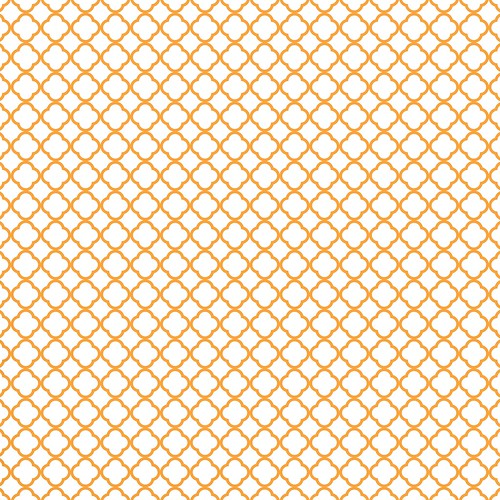 4-tangerine_BRIGHT_small_QUATREFOIL_OUTLINE_melstampz_12_and_a_half_inches_SQ