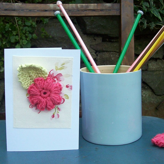 crochet and knit greetings card