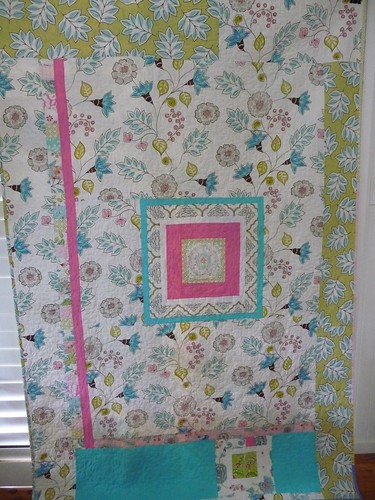 The back of Lily quilt