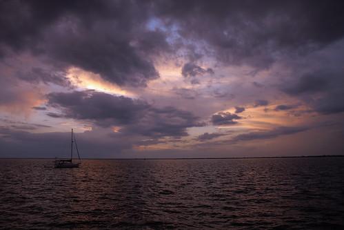 sunset sky gulfofmexico clouds sailboat bay harbor florida yacht puntagorda portcharlotte gulfcoast