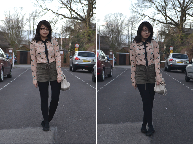 daisybutter - UK Style Blog: what i wore, button up shirt, forever 21, ever ours, deer print, bambi
