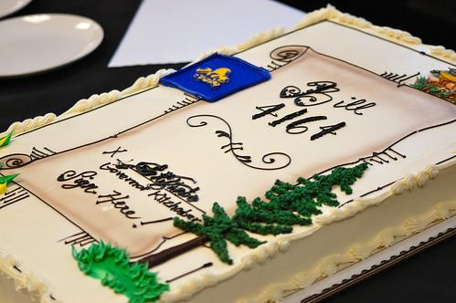 Cake, signed