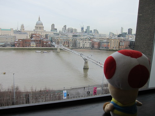 Toad views Millennium bridge