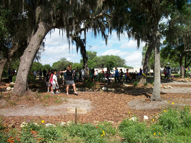 A student walk through some of the gardens