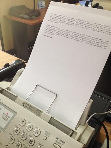 Prueba de Fax
