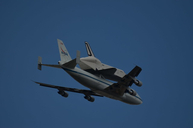 Close up look at the shuttle