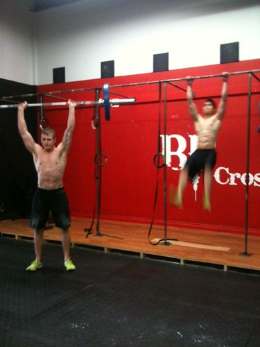 Dylan and Jonathan tackling the Games WOD #3