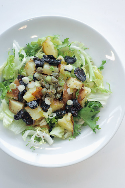 Potatoes, Black Olives and Capers