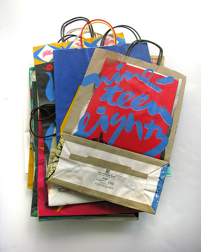 vintage Bloomingdales shopping bags