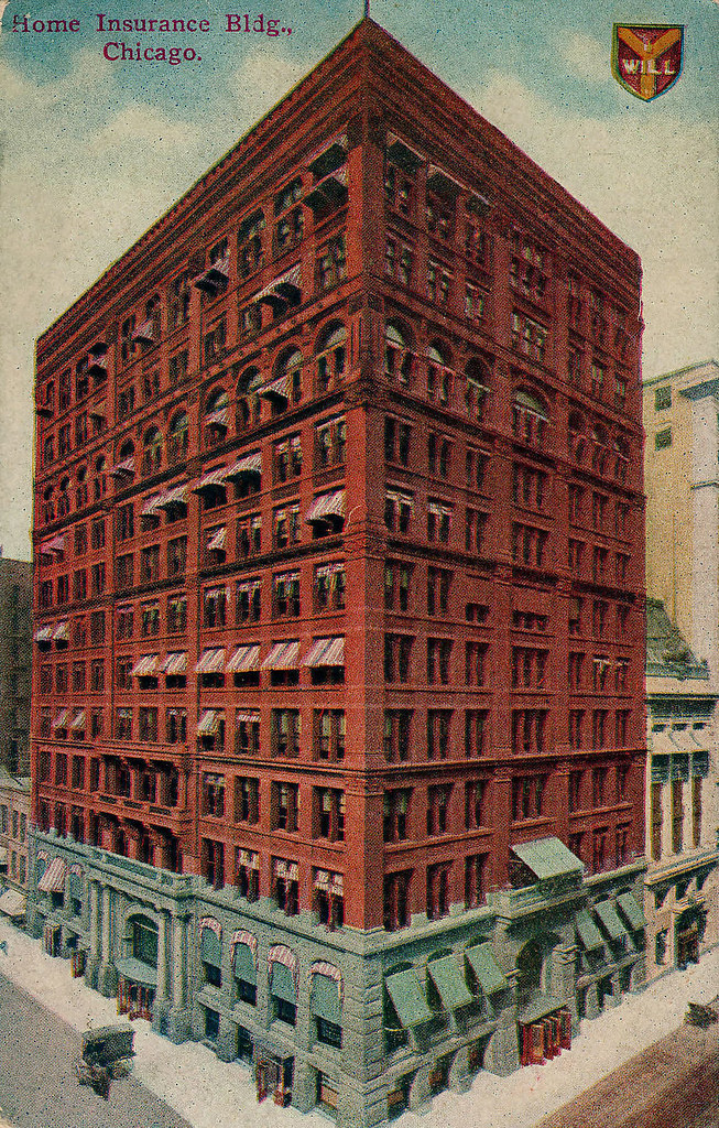 Home insurance building 1885 postcard a photo on for House construction insurance