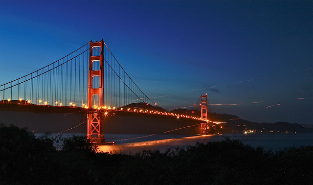 Dusk @ GG Bridge( UFO ?)