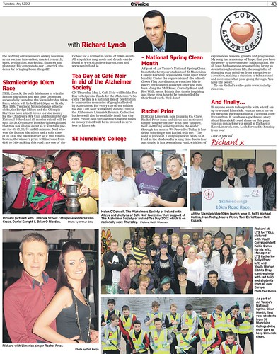 I Love Limerick Chronicle Column 1 May 2012 Page 2