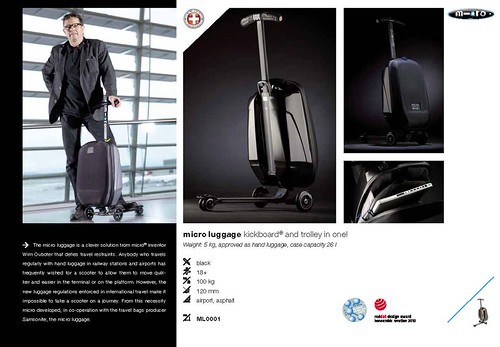Page 5 from a Micro Luggage Brochure