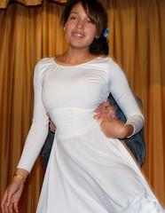 neck, textile, clothing, abdomen, white, woman, female, formal wear, prom, dress,