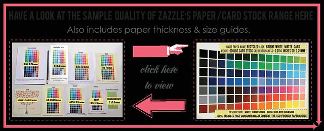 ZAZZLE SAMPLES PAPER INVITES