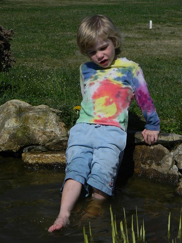 dipping his toes in the water