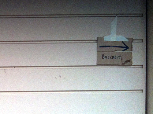 Basement, this way