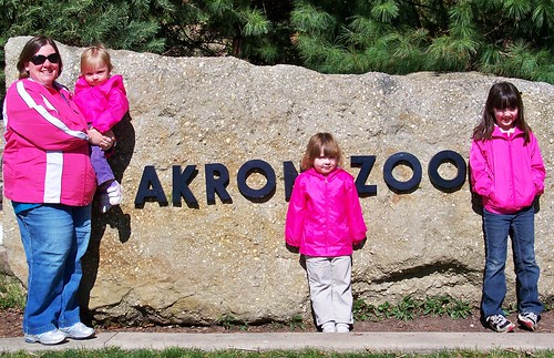 Me and my girls at the Akron Zoo