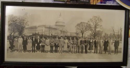 Photograph, class trip to Washington, Clinton High School, 1933