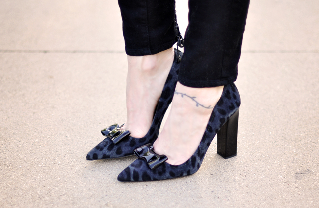 kate spade shoes-leopard print bow pumps