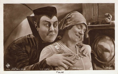 Emil Jannings and Yvette Guilbert in Faust