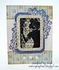 Woman Silhouette Vintage Card by Mistress of Mayhem