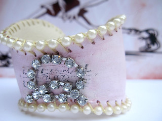 Custom Shabby Pink B-Cuff: Holly! 3